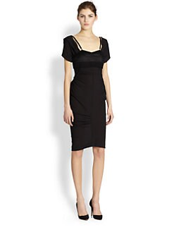 Nina Ricci - Asymmetrical Gathered Paneled Dress