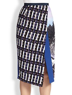 Peter Pilotto - Slit Patchwork Skirt
