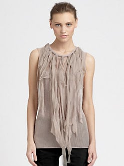 Nina Ricci - Knotted Fringe Knit Top