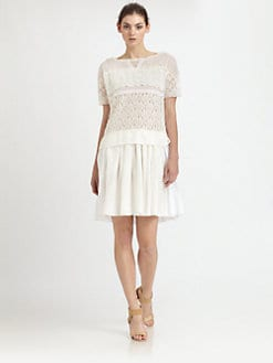 Nina Ricci - Paneled Lace Dress
