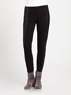 Maison Martin Margiela - Leather Panel Leggings