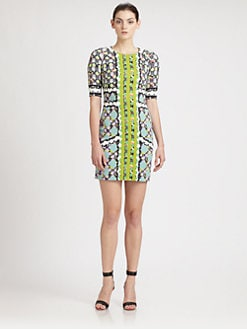 Peter Pilotto - Printed Raglan-Sleeve Dress