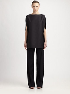Maison Martin Margiela - Wool & Silk Open-Back Top