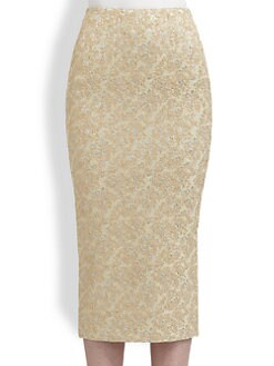 Rochas - Metallic Jacquard Skirt