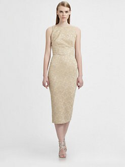 Rochas - Metallic Jacquard Dress