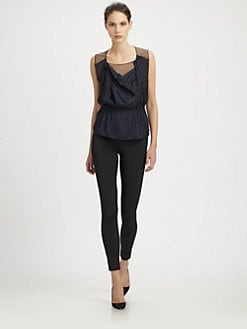 Nina Ricci - Mesh Drape Top