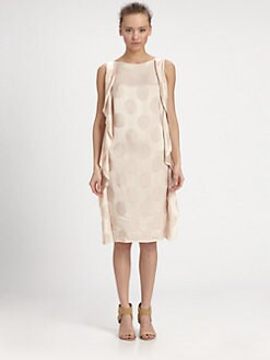 Nina Ricci - Silk Jacquard Flounce Dress
