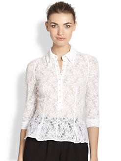 Nina Ricci - Lace Button-Down Shirt