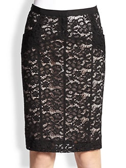 Nina Ricci - Lace Pencil Skirt