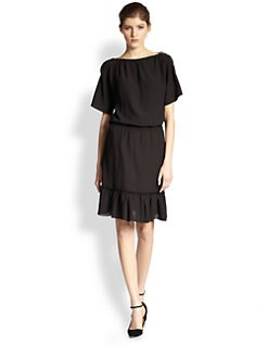 Nina Ricci - Ruffle-Hem Dress