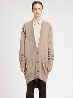 Maison Martin Margiela - Leather Elbow Patch Cardigan