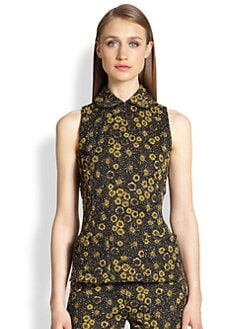 Rochas - Floral Jacquard Top