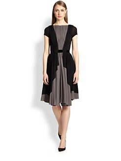 Rochas - Two-Tone V Back Dress