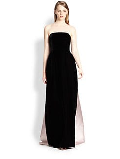 Rochas - Mixed Media Strapless Gown