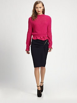 Nina Ricci - Silk-Trimmed Sweater