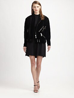 Christopher Kane - Velvet Biker Jacket