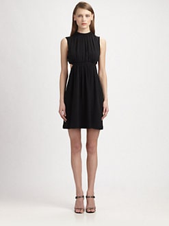Christopher Kane - Backless Georgette Cutout Dress