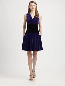 Christopher Kane - Bi-Color Velvet Dress