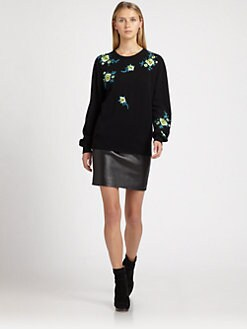Christopher Kane - Floral Embroidered Cashmere Sweater
