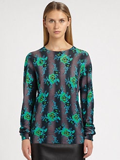 Christopher Kane - Silk Bouquet Print Sweater