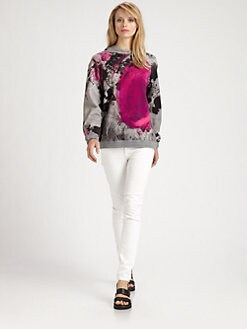 Christopher Kane - Paint Spot Floral Hoodie