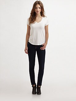 Saks Fifth Avenue Collection - V-Neck Stretch Jersey Tee