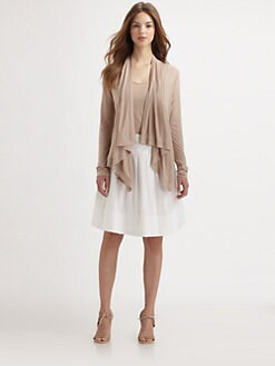 Saks Fifth Avenue Collection - Draped Slub Jersey Cardigan
