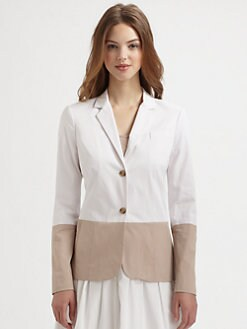 Saks Fifth Avenue Collection - Colorblock Stretch Cotton Blazer