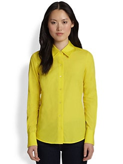 Saks Fifth Avenue Collection - Cotton Back-Button Blouse