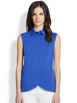 Saks Fifth Avenue Collection - Sleeveless Cutaway Top