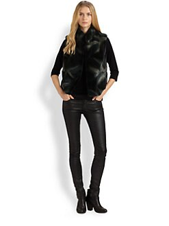 Saks Fifth Avenue Collection - Sheared Coyote Vest