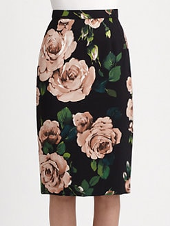 Dolce & Gabbana - Floral Pencil Skirt