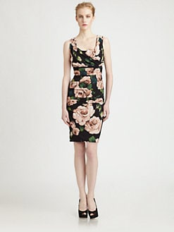 Dolce & Gabbana - Ruched Floral Dress