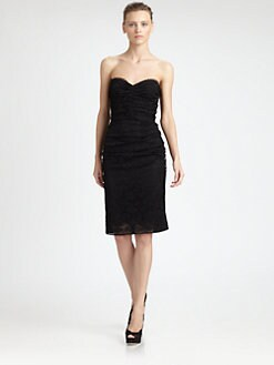 Dolce & Gabbana - Strapless Lace Mixed Media Dress