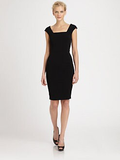 Dolce & Gabbana - Cap-Sleeve Cady Dress