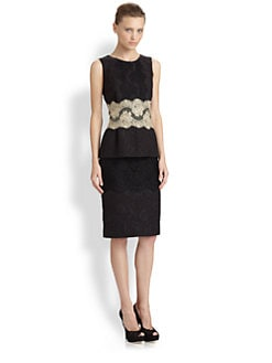 Dolce & Gabbana - Lace Peplum Dress