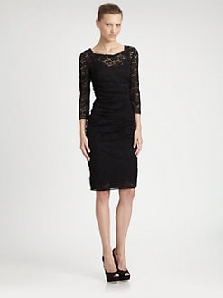Dolce & Gabbana - Mixed Media Lace Dress