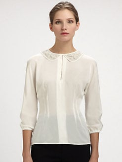 Dolce & Gabbana - Trompe L'Oeil Lace Collar Blouse