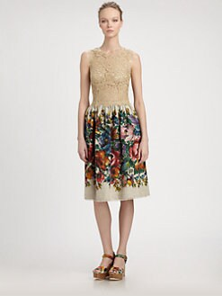 Dolce & Gabbana - Lace Bodice Dress