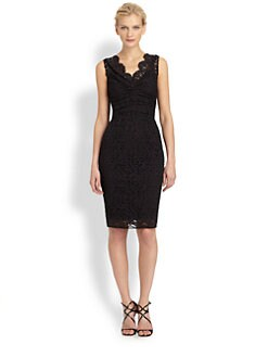 Dolce & Gabbana - Ruched Lace Dress