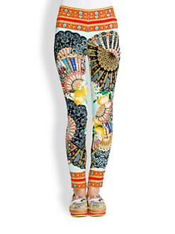 Dolce & Gabbana - Charm Foulard-Print Leggings