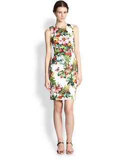 Dolce & Gabbana - Floral-Print Stretch Cotton Dress