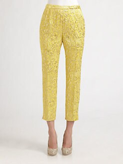 Dolce & Gabbana - Cropped Silk Jacquard Pants