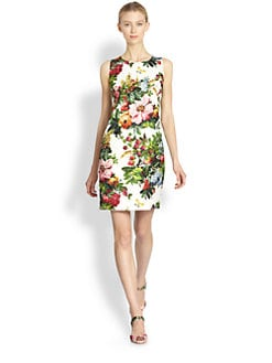 Dolce & Gabbana - Printed Brocade Dress