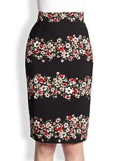 Dolce & Gabbana - Floral-Print Pencil Skirt