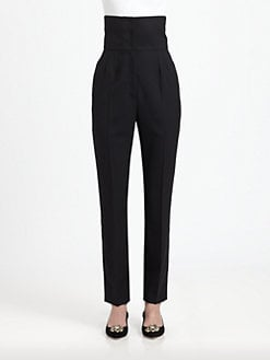 Dolce & Gabbana - High-Waisted Stretch Wool Pants