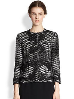 Dolce & Gabbana - Lace-Appliquéd Tweed Jacket