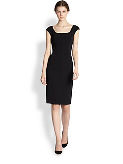 Dolce & Gabbana - Square-Neck Stretch Crepe Dress