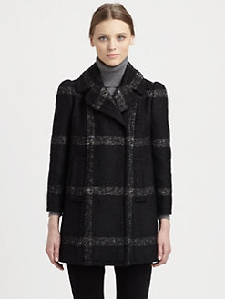 Dolce & Gabbana - Double-Breasted Plaid Coat