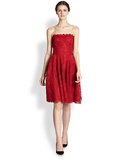 Dolce & Gabbana - Strapless Cotton-Blend Macramé Dress